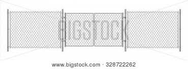 Metal Wire Fence Vector Photo Free Trial Bigstock