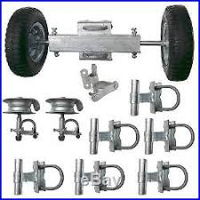 Gate Fence Hardware Kit Chain Link Rolling Gate Track Brackets Rollers Lot 2 Fence Kit New