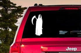 Grim Reaper Decal Grim Reaper Sticker Grim Reaper Window Etsy Computer Decal Laptop Decal Stickers Laptop Decal