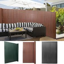 Pvc Fence Screen Roll Bamboo Mat Border Panel Garden Privacy Sun Shade Shield Uk Ebay