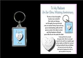 wedding anniversary gifts 20th wedding