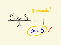 algebra shortcut trick how to solve