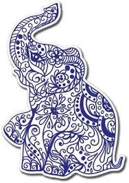 Amazon Com Ak Wall Art Elephant Henna Exotic Vinyl Sticker Car Phone Helmet Select Size Home Kitchen