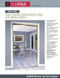 steel framed sliding mirror door with