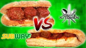 subway meatball sub vs homemade