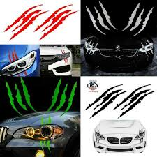 Hot Sale 2 Pcs Monster Claw Scratch Decal Reflective Sticker For Car Headlight Decor Car Styling Car Accessories 15 75 X 4 72 Car Stickers Aliexpress