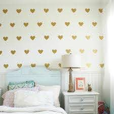 Baby Girl Room Decorative Stickers Gold Heart Wall Sticker For Kids Room Wall Decal Stickers Room Decoration Kids Wall Stickers Wall Stickers Aliexpress
