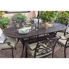 capri 221x107cm oval table set