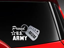 Proud Us Army Mom Vinyl Car Decal Sticker 7 5 W With Etsy