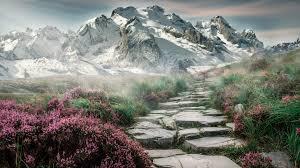 4k mounn landscape wallpaper hd