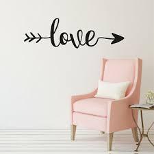 Love Arrow Vinyl Wall Decal Home Decor V2 Ebay