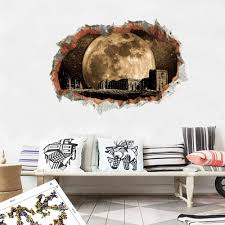 Amazon Com 3d Wall Sticker Vivid Outer Space Hole For Kids Room Science Dream Children Room Decor Wall Decoration Mural Art Pvc Decals Yzbz Kitchen Dining