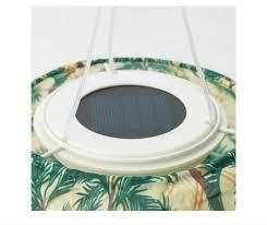 solar powered pendant lamp light globe