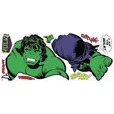 Room Mates Marvel Enterprises Classic Hulk Comic Peel And Stick Giant Wall Decal Reviews Wayfair