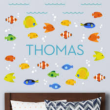 Ocean Fish Wall Decals Personalized Maxwill Studio