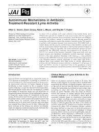 PDF) Autoimmune Mechanisms in Antibiotic Treatment-Resistant Lyme Arthritis    Abbie Meyer - Academia.edu