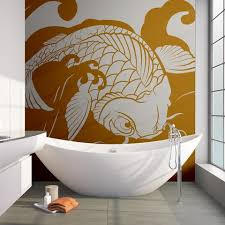 Japanese Koi Fish Wave Wall Decal Sticker Os Mb118 Stickerbrand