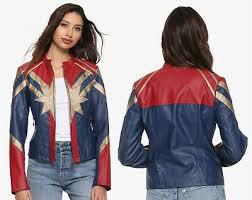 captain marvel faux leather er