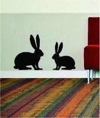 2 Rabbits Animal Design Rabbit Bunny Decal Sticker Wall Vinyl Decor Ar Boop Decals
