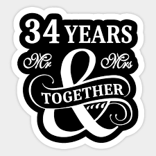 34th wedding anniversary shirt 34
