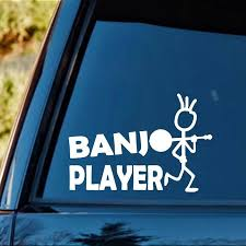 2020 16 10 9cm Banjo Player Bluegrass Decal Sticker Funny Car Window Bumper Novelty Jdm Drift Vinyl Decal Sticker From Xymy787 4 63 Dhgate Com