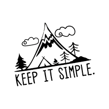 Keep It Simple Mountains Vinyl Pine Tree Travel Mountains Laptop Car Sticker Car Stickers Aliexpress
