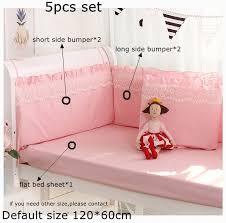 5pcs set pink princess baby cot pers