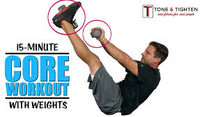 15 minute core workout with weights