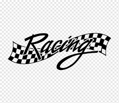 Racing Text Car Wall Decal Auto Racing Sticker Racing Text Sport Racing Png Pngwing