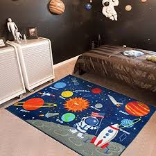 Amazing Kids Rug Educational Learning Carpet Galaxy Planets Stars Blue 3 3 X 4 5 Children S Fun Area Rug Nursery Rugs Kids Rugs Kid Room Carpet Kids Room Rug