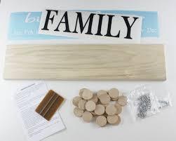 family birthday board diy kit wood sign