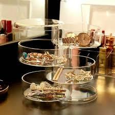 4 tier clear cosmetic makeup organiser
