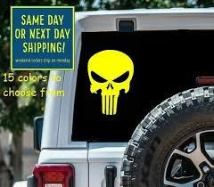 Silver Pink Bow Glitter Punisher Skull Laptop Car Window Mirror Decal 11 19 For Sale Online Ebay