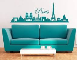 Amazon Com Style Apply Paris City Skyline Wall Decal Cityscape Wall Decal Sticker Mural Vinyl Art Home Decor 3762 Black 39in X 13in Home Kitchen