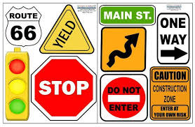 Street Sign Wall Stickers Road Sign Boys Room Decals