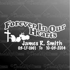 Cool New Forever In Our Hearts Motorcycle Rider Car Stickers