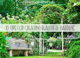 ten tips for creating beautiful gardens