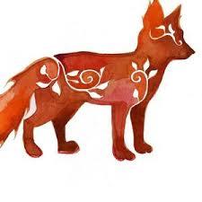 Fox Art Canvas Fox Silhouette Orange Fox Kids Room Etsy