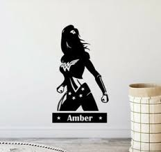 Personalized Wonder Woman Wall Decal Girl Name Vinyl Sticker Poster Decor 924 Ebay