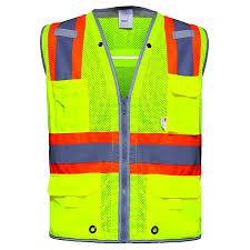 hi vis surveyor safety vest with