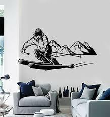 Vinyl Wall Decal Skiing Skier Extreme Adventure Mountain Sport Stickers G1084 Ebay