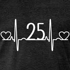 25th wedding anniversary heartbeat