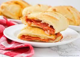 homemade pepperoni pizza pockets recipe