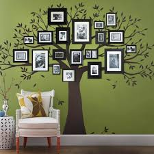 Simple Shapes Family Tree Wall Decal Tree Wall Decal For Picture Frames In Chestnut Brown Small Size W5018 Ch Sm The Home Depot