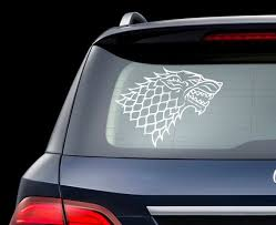 Game Of Thrones Car Decal House Stark Car Decal Wolf Deca Etsy