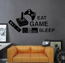 Ik2548 Wall Decal Sticker Joystick Controller Xbox 360 Game Ps4 Player Bedroom Teens Wall Decal Sticker Wall Decals Kids Wall Decals