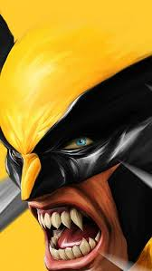 art wolverine logan drawing iphone
