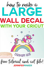 Large Wall Decal Larger Than Mat Cricut Projects Jennifer Maker