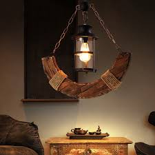 industrial style single light wood
