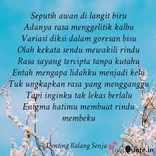 sans shine denting ilalang senja 💕 quotes yourquote